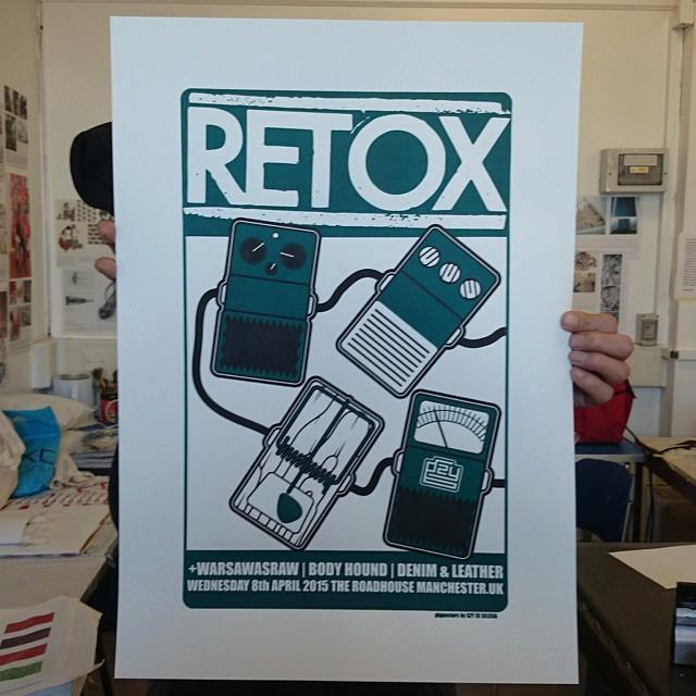Image of Gzy Ex Silesia - Retox - Manchester Gig Poster