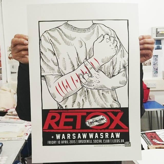 Image of Gzy Ex Silesia - Retox - Leeds Gig Poster