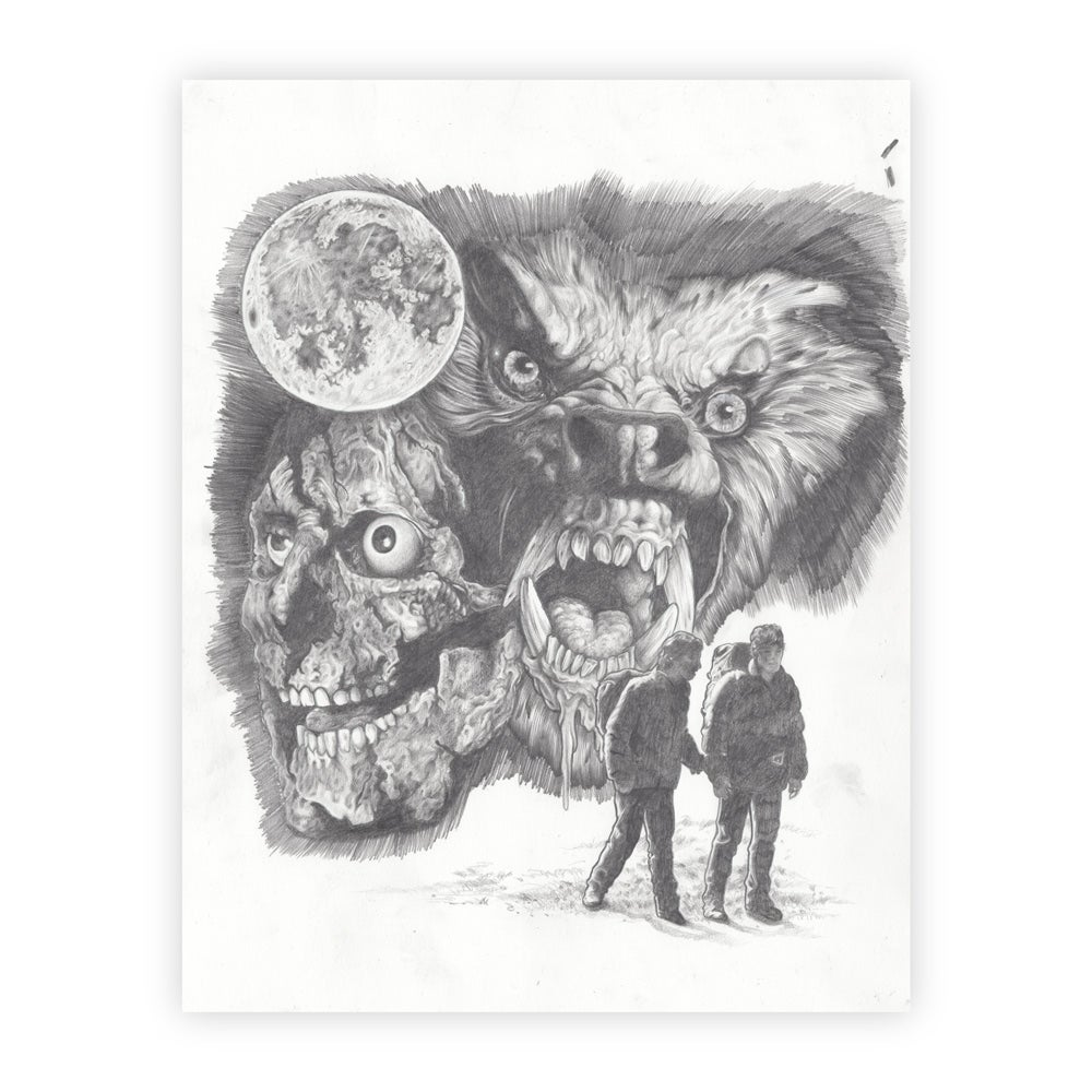 Image of original American Werewolf in London art