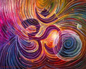 Image of Sacred Om Energy Painting - Gicleee Print