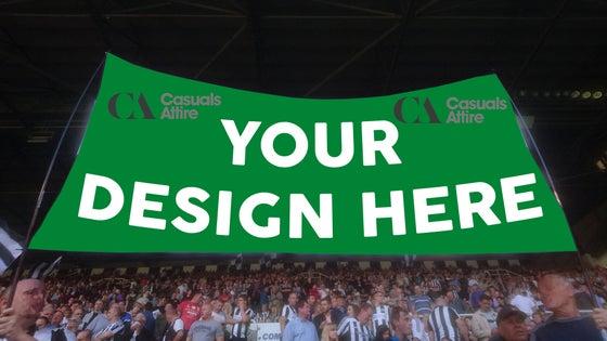 Image of Custom Printed Football Fence Flags. Club Flags, Organisation flags.