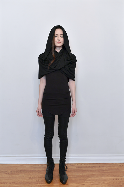 Image of Mythic Cowl in Draped Jersey