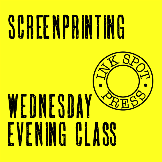 Image of Wednesday Evening Screenprinting class 17th. May - 21st. June 2017. £220.00.