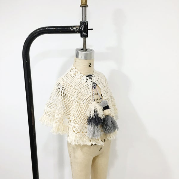 Image of Boho Tassel and Pom Caplet