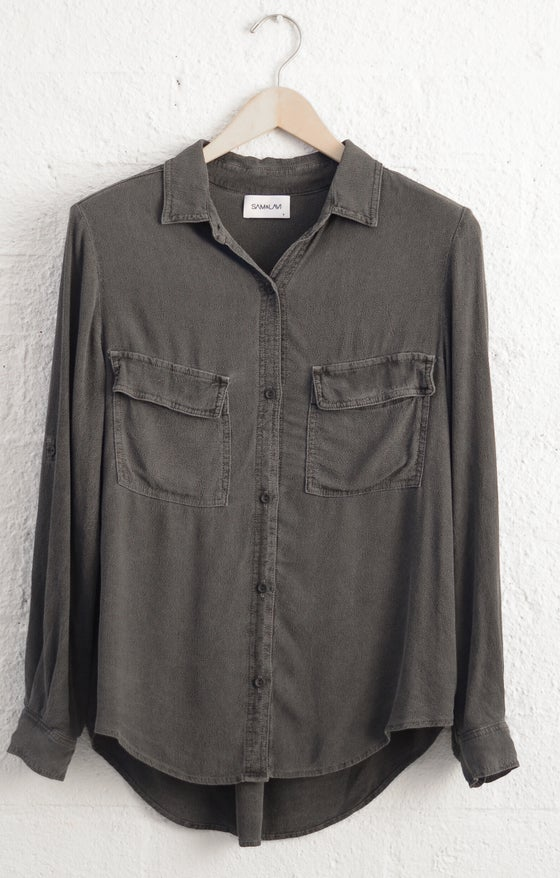 Image of Sam & Lavi charcoal Isabelle button down