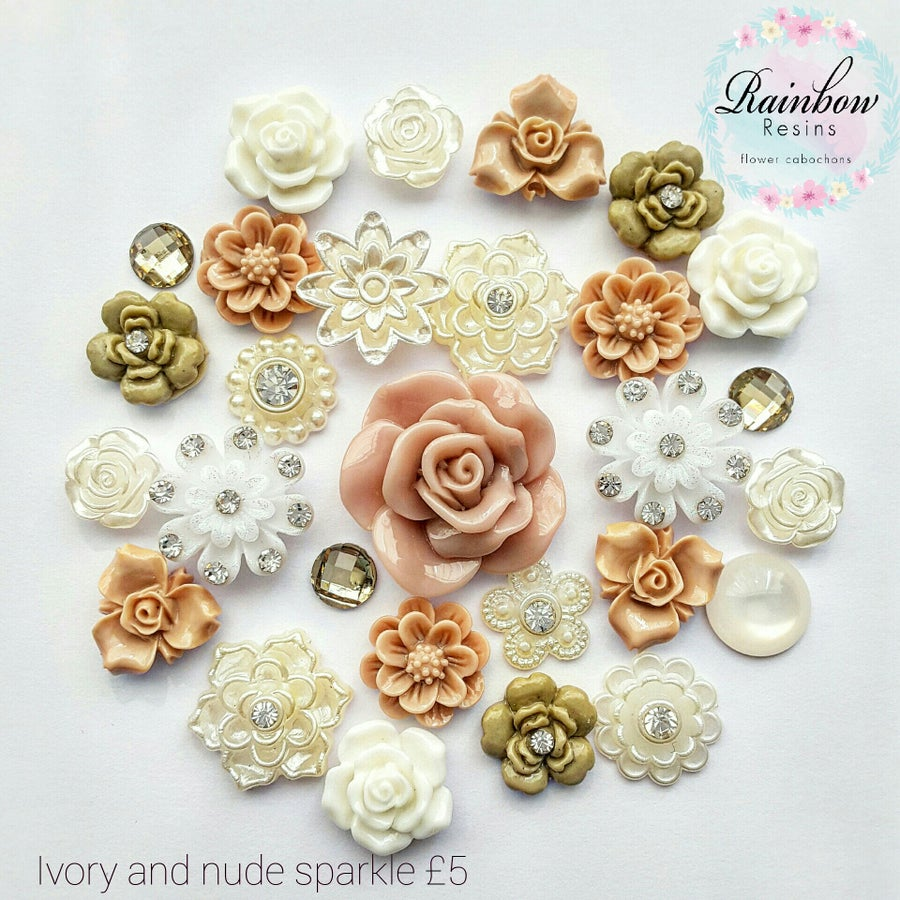 Image of Ivory and nude sparkle