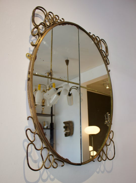 Image of Italian Folding Mirror, 1950s