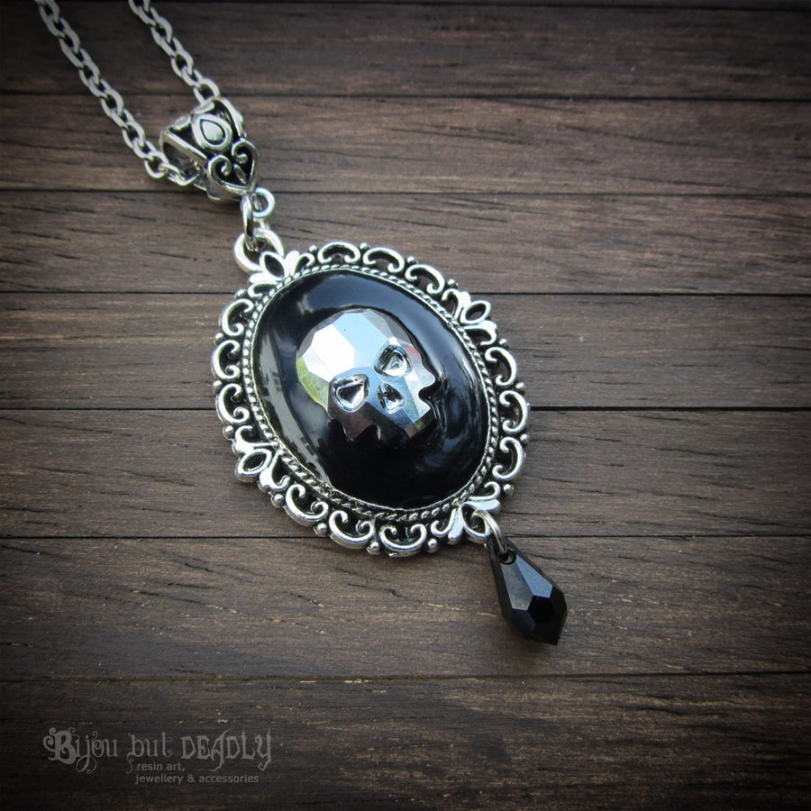 Image of Crystal Skull Cameo Silver Pendant