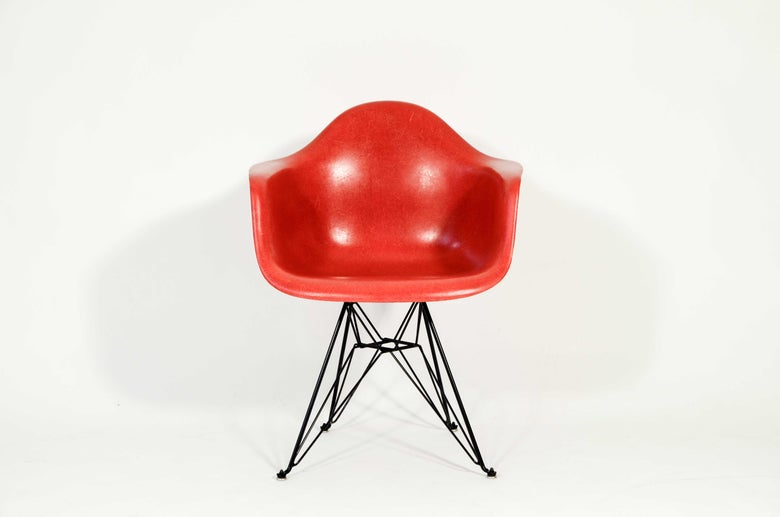 Image of Eames DAR Herman Miller True Red