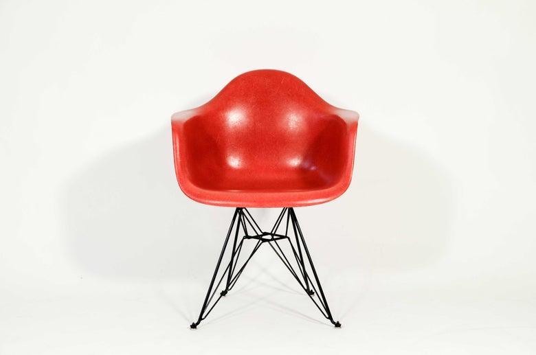 Image of Eames DAR Herman Miller True Red