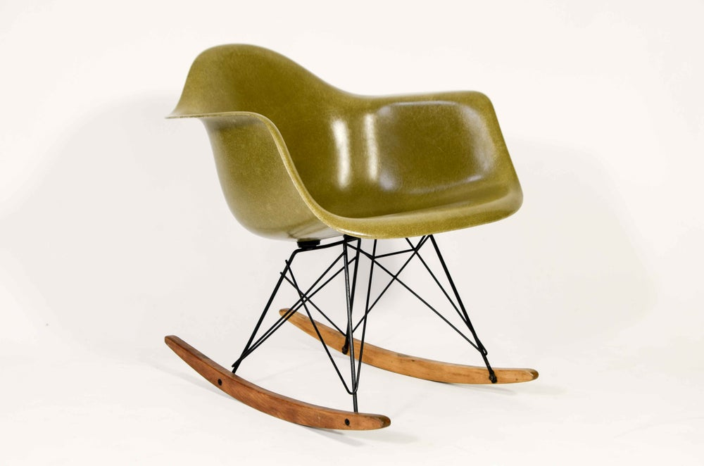 Image of All original Baby Rocker with brass tag Herman Miller employee