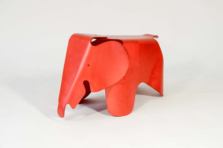 Image of Eames Elephant Vitra 2007 limited edition Red-Stained Maple