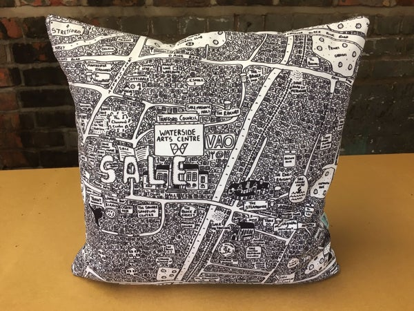 Image of Sale Doodle Map Cushion