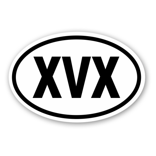 Image of XVX or XXX Oval Sticker