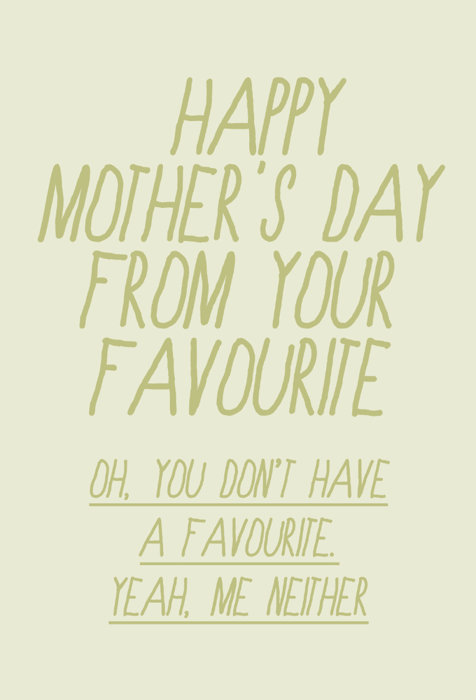 Image of mother's day - favourite parent