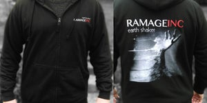 "Image of PRE-ORDER Ramage Inc ""Earthshaker"" zip up hoodie."
