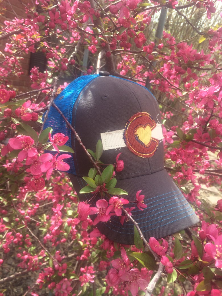 Image of Colorado Love Trucker Hat- Neon Blue