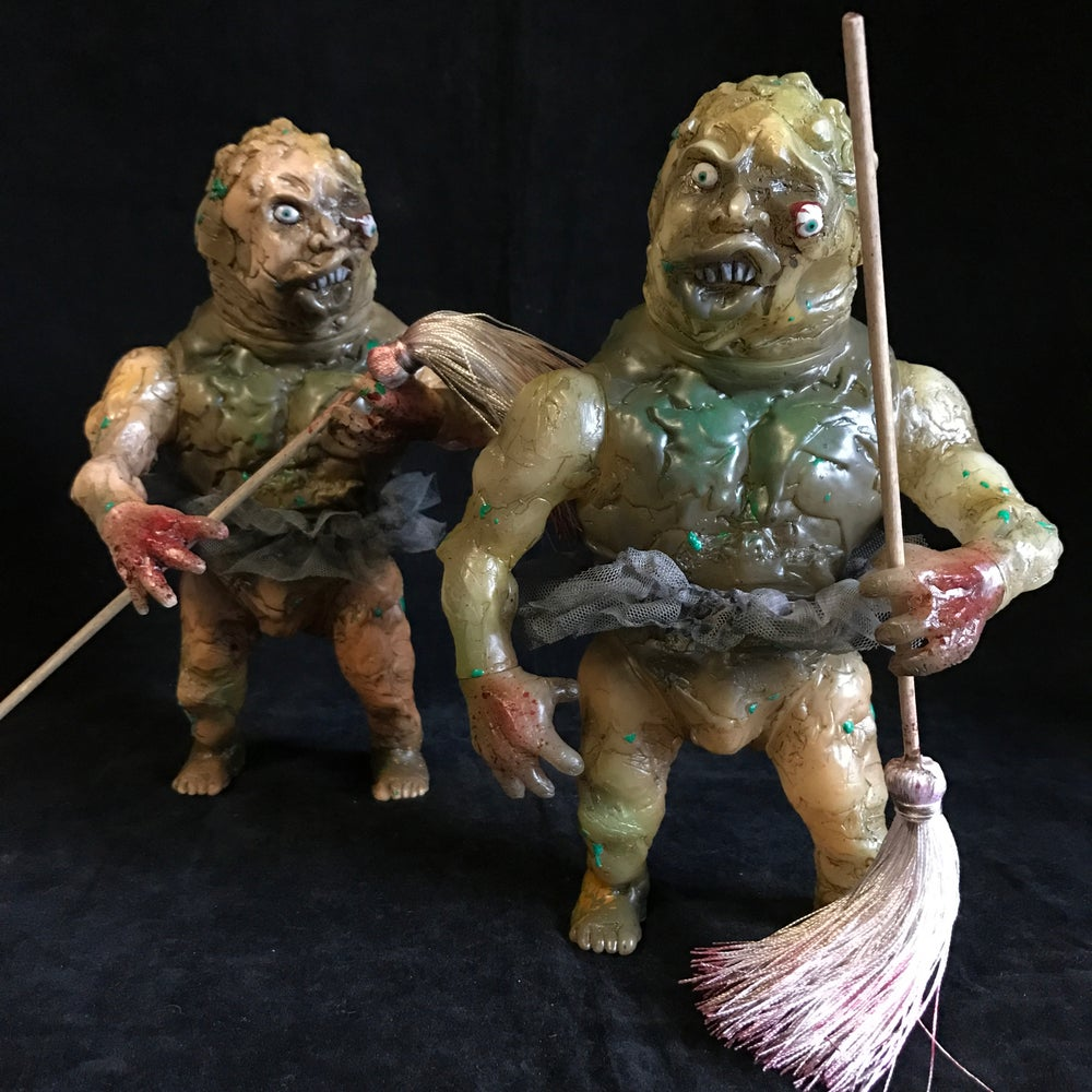 "Image of ""Mad Mop Monster"" Toxie Custom Coolie High"