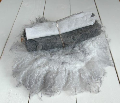 Image of Silver Grey Felted set - 4pc (reg. $187)