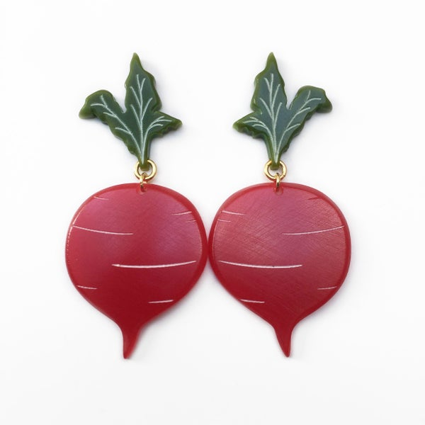 Image of Beet Earrings