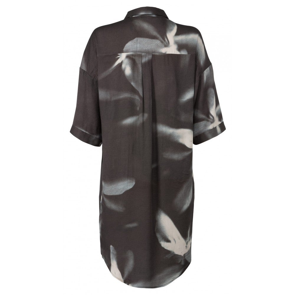 Image of Palm printed shirt dress