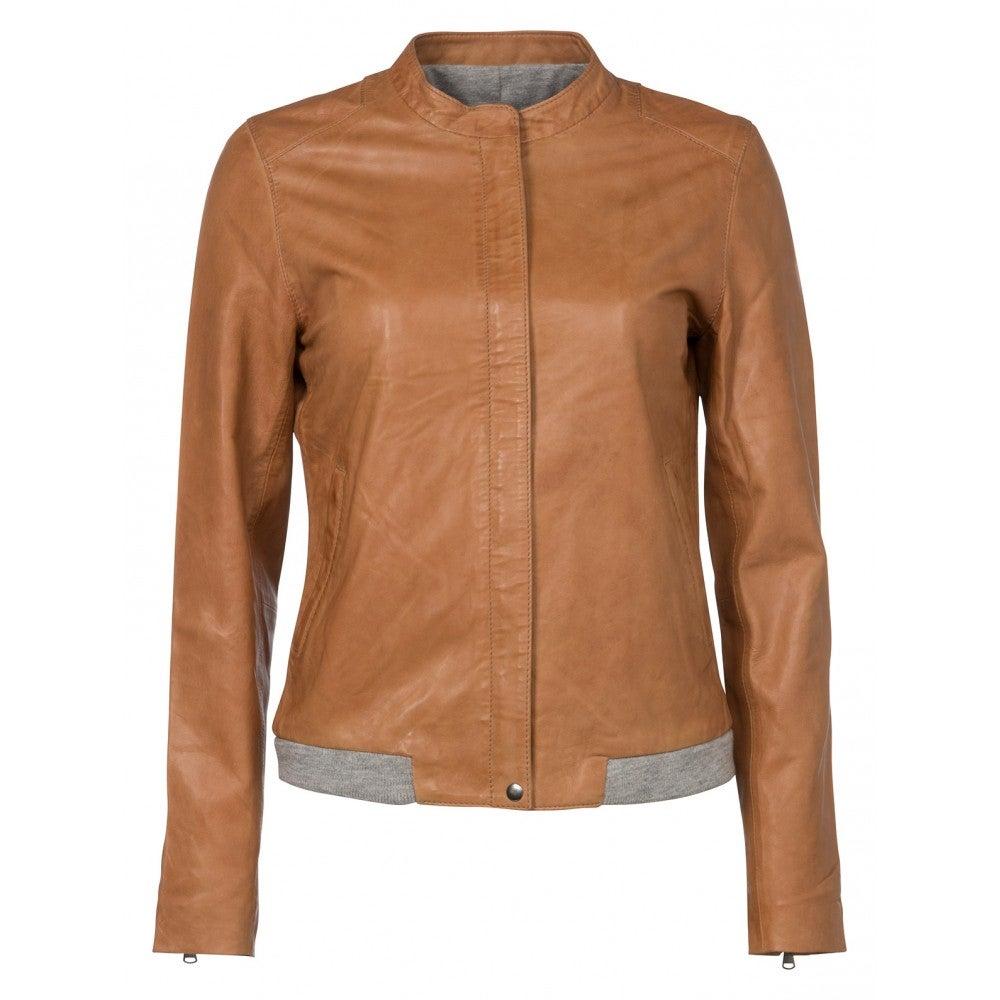Image of Leather jacket - soft peach