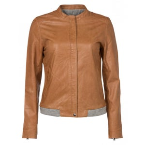 Image of Leather jacket - soft peach