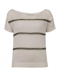 Image of Yaya Linen striped sweater