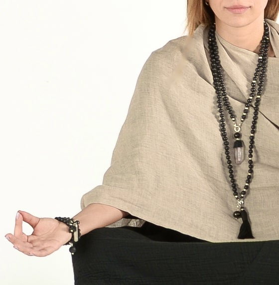 "Image of ""Desert Sand"" Linen Six Point Shawl  NEW!"