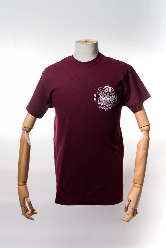 Image of Monkey Climber APE shirt I Burgundy