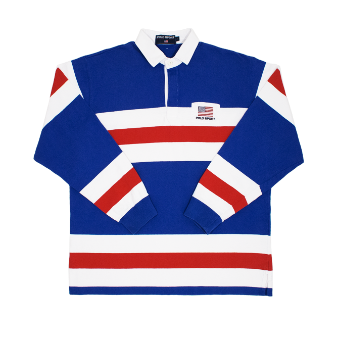 Image of Polo Sport Ralph Lauren Rugby Shirt USA Flag
