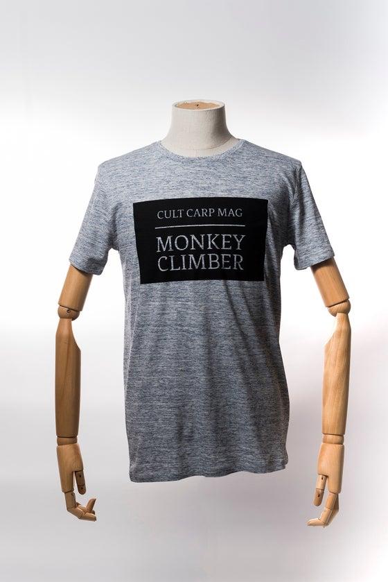 Image of Monkey Climber Cult shirt I Slub Heather Blue