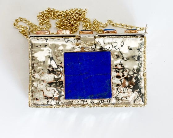 Image of Lapis and Brass Clutch
