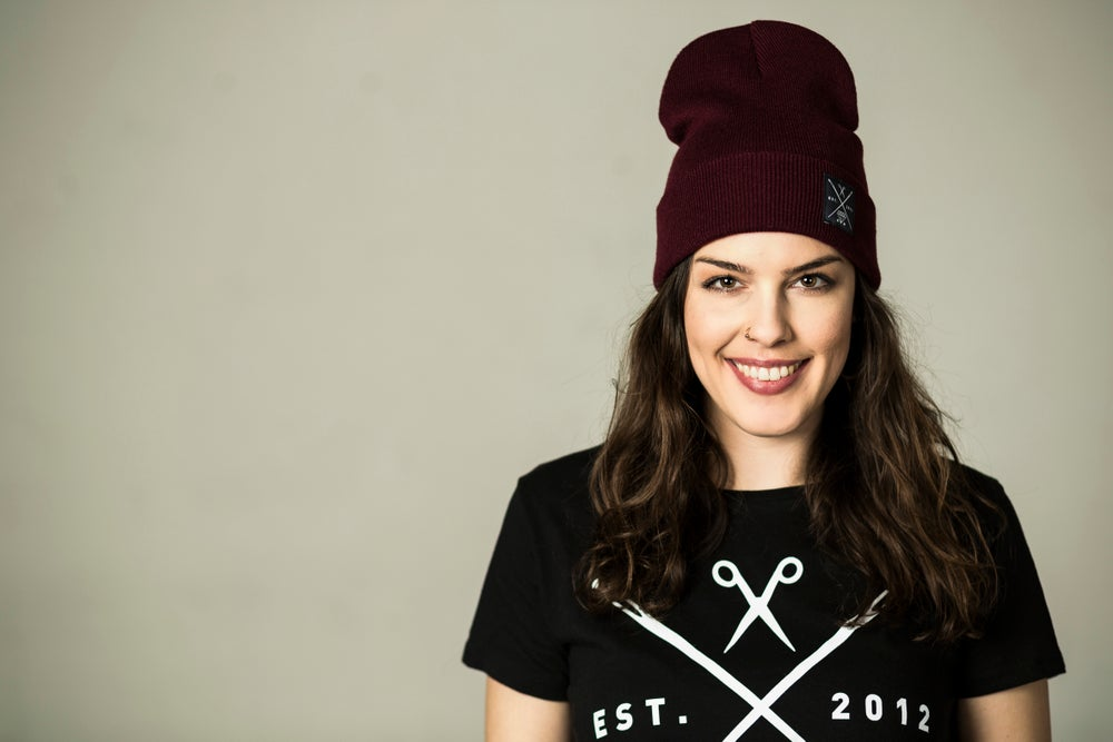 Image of Beanie #burgundy