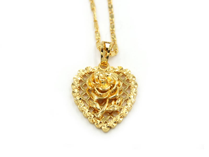 Image of RoseHeart Pendant Necklace