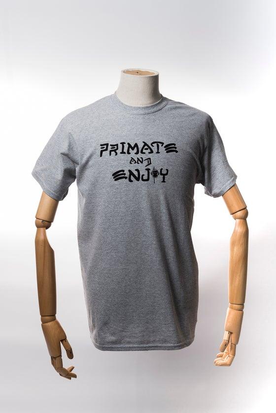 Image of Monkey Climber Primate and Enjoy shirt I Heather Grey