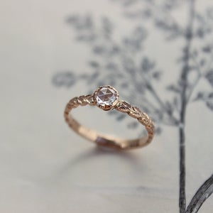 Image of SOLD *NEW* 18ct Rose gold 4.1mm Rose cut diamond ring (IOW61)