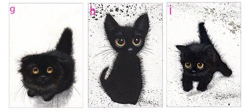 Image of Black Kitties, ACEO prints