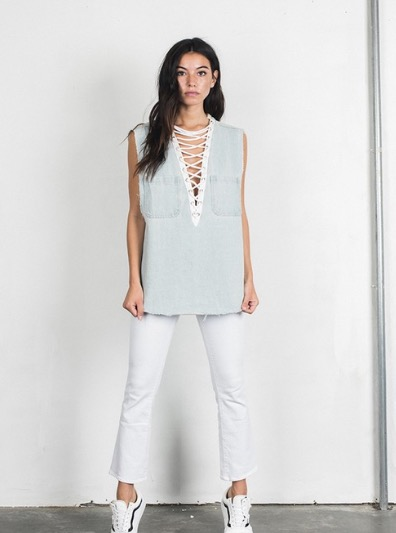 Image of Laced Denim Shirt