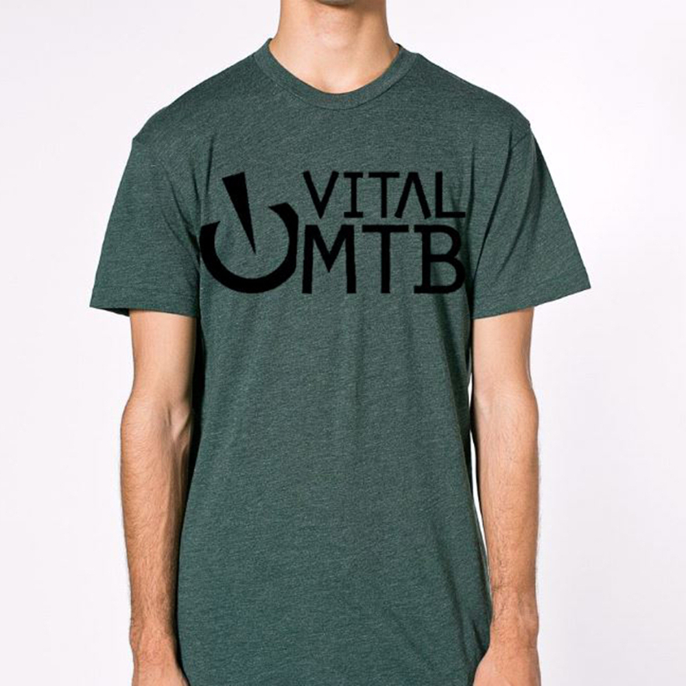 Image of MTB Stack T-Shirt, Heather Forest
