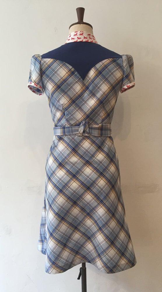 Image of Check shirt dress