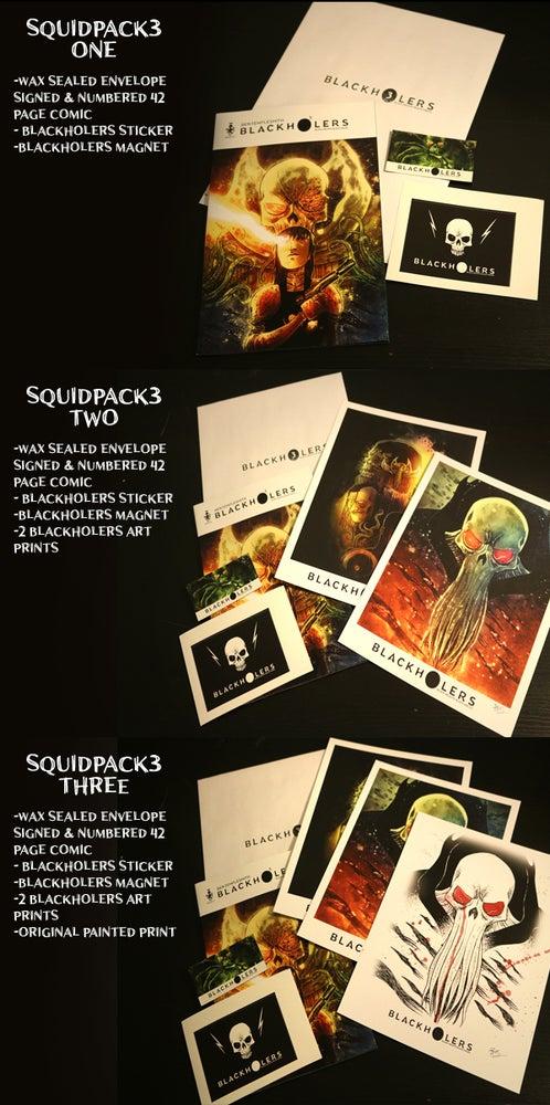 Image of BLACKHOLERS #3 & SQUIDPACKS