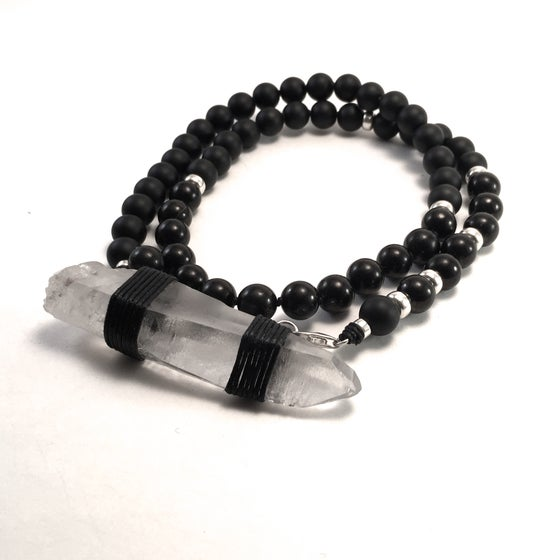 Image of Infinite Purpose Mala. Onyx & Lemurian Recordkeeper  New!