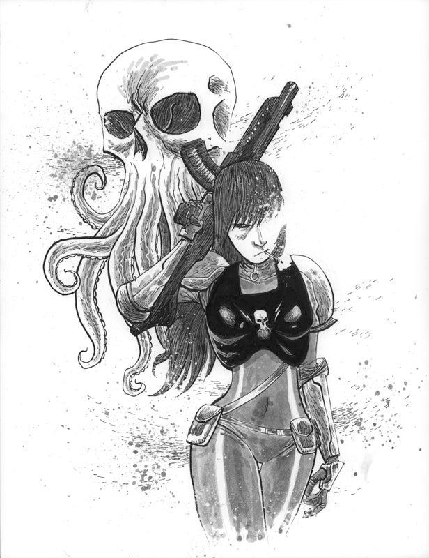 Image of BLACKHOLERS Print #2C Original Art