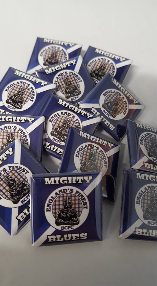 Image of Birmingham City, Mighty Blues, Englands Finest Brand new 25mm Football Badges.