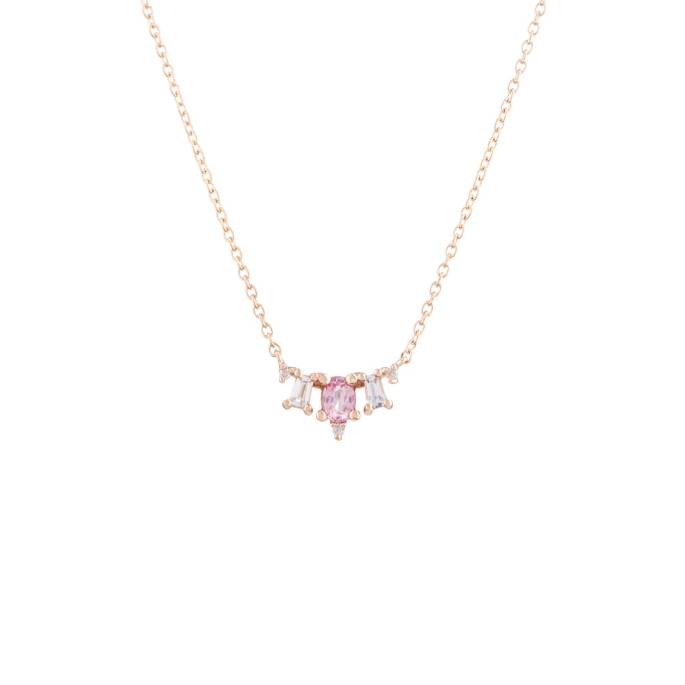 Image of Deco Pink Necklace