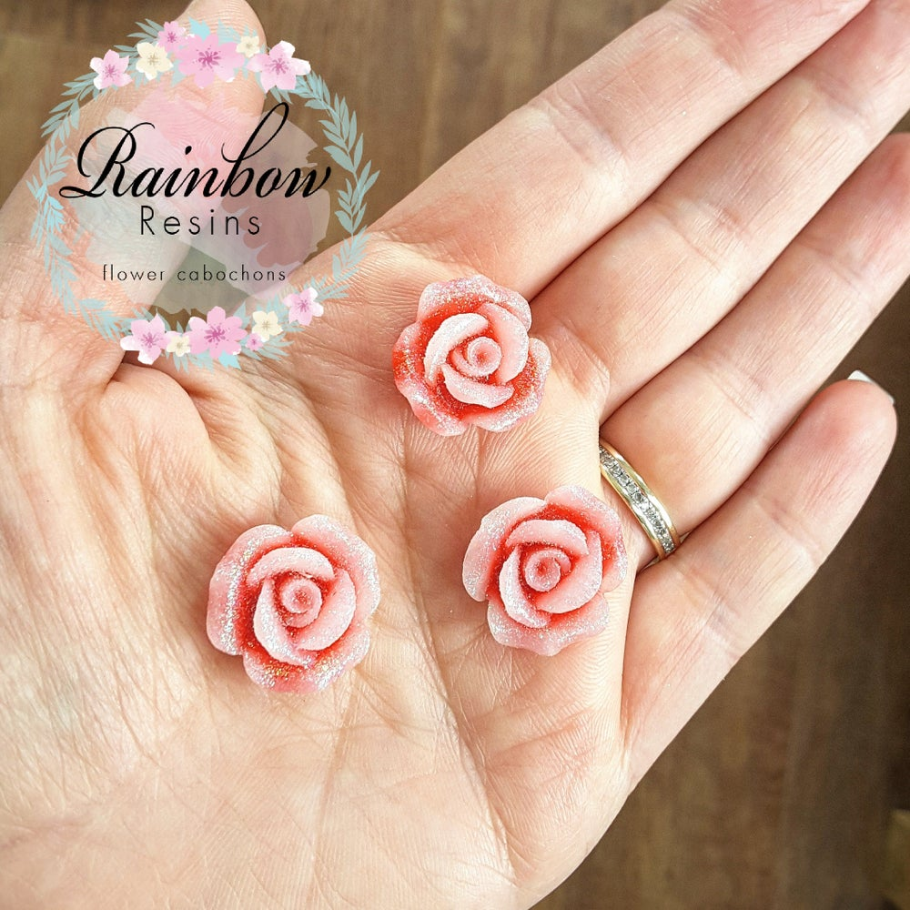 Image of Sparkly pink/red roses x 10