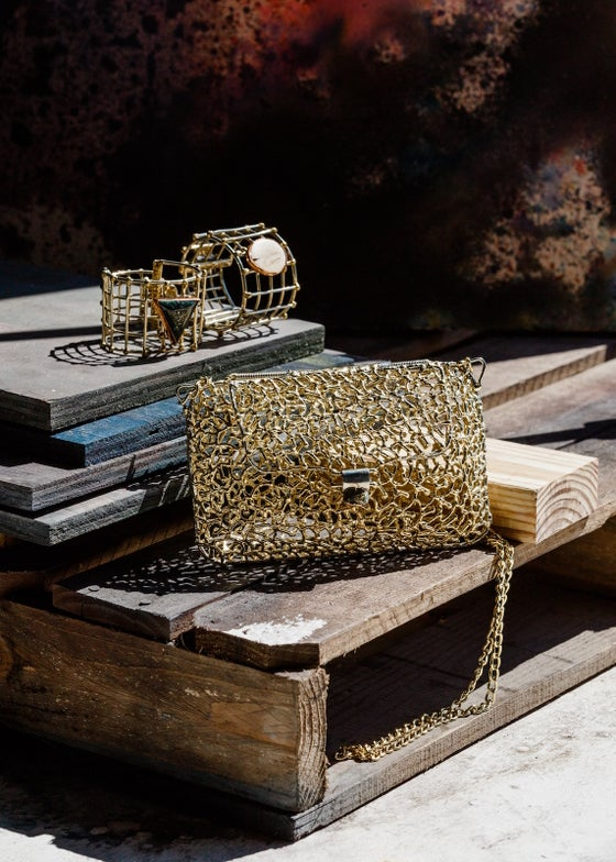 Image of Brass Coral Branch Cage Purse