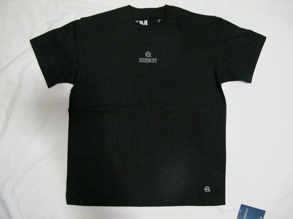 Image of Denim BY VANQUISH & FRAGMENT - Mini Chest logo Crew neck Tee (Black)