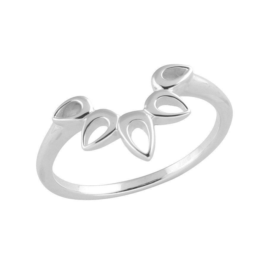 Image of Sterling Silver Radiant Teardrops Ring